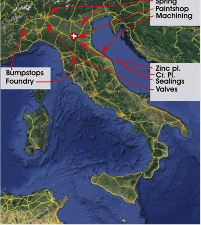 Sede di Paioli in Italia